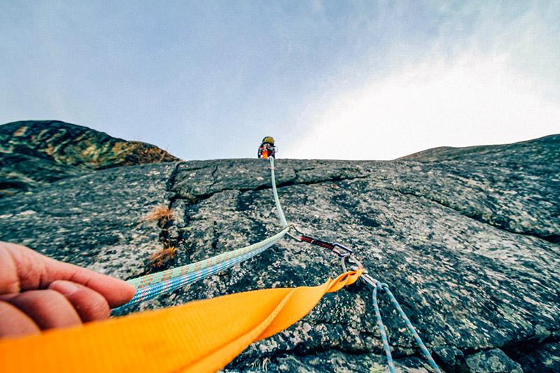 Klettern im Klettergarten in Ardez