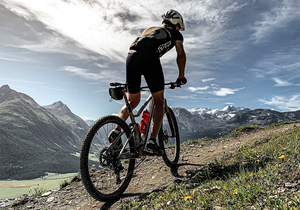 Mountain Biken im Engadin